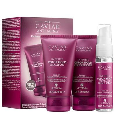 Alterna Caviar Anti-Aging Trial Travel Kit Дорожный набор Alterna Infinite Color Hold для максимальной защиты цвета