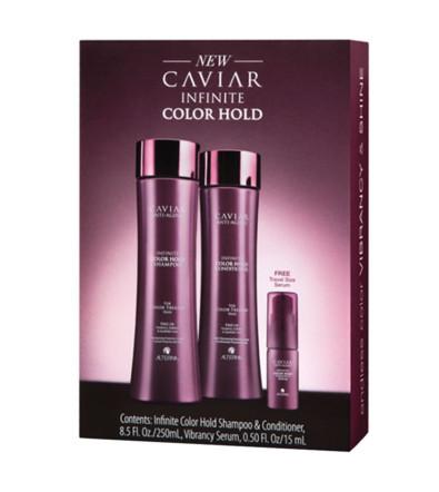 Alterna Caviar Infinite Color Hold DUO with Free Travel Size Serum Шампунь + Кондиционер + Сыворотка максимальная защита цвета